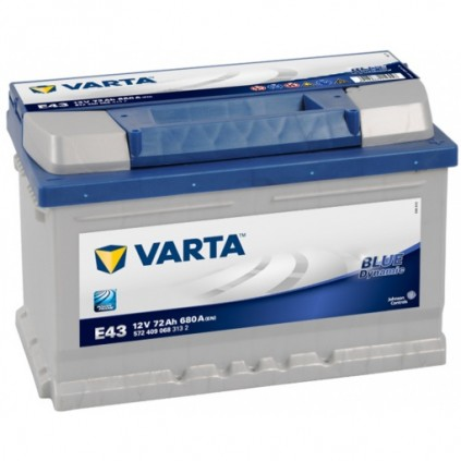 VARTA Blue Dynamic Batteri 12V 72AH 680CCA (278x175x175/175mm) +høyre E43